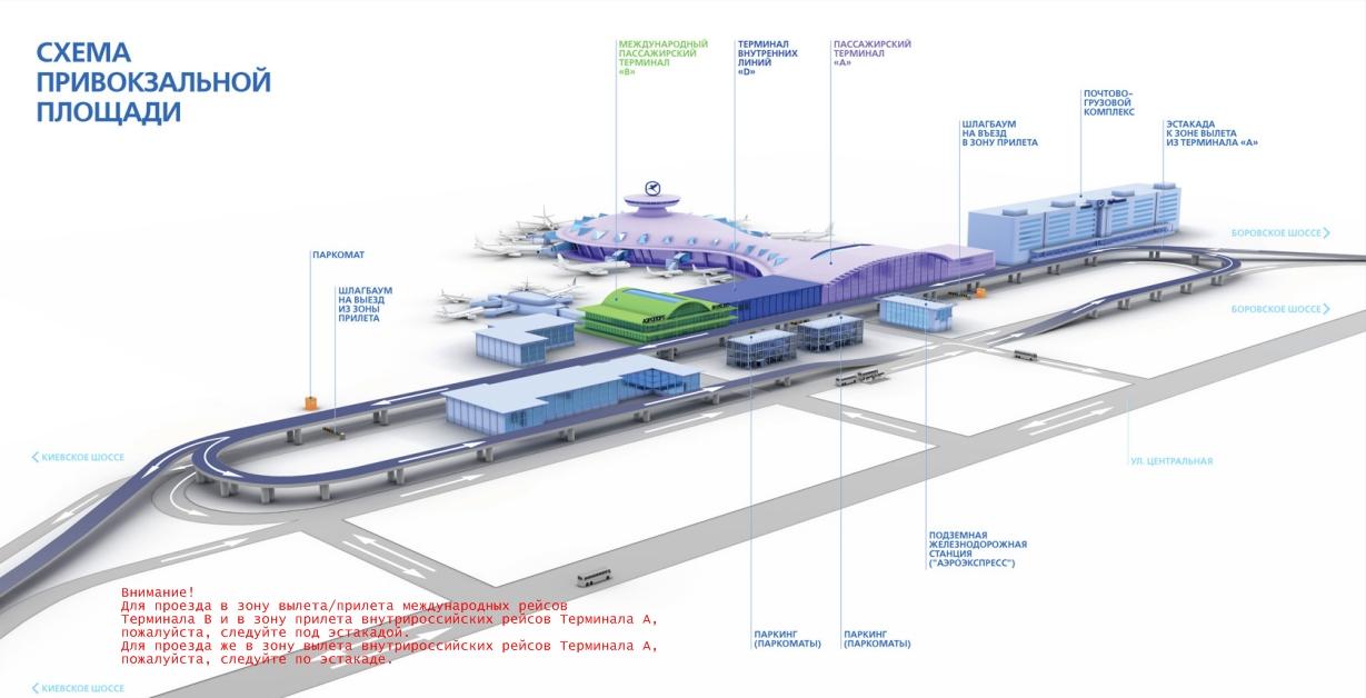 Схема аэропорта Внуково: